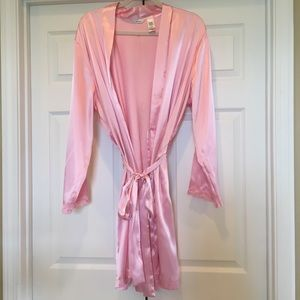 Adonna Pink Robe with Lace